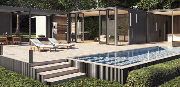 Renson LINARTE Aluminium-Fassaden-Verkleidung, Foto: Renson